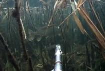 Рыбак под водой