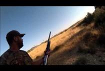 Охотник поджидает кабана
