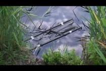 Удочки на берегу пруда