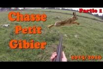 Охотник стреляет по зайцу