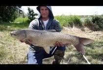 Рыбак держит улов в руках