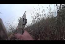 Охотник целится из ружья