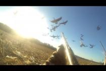 Охотники на гусей в засидке