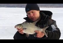 Рыбак с лещом в руках