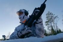 Шведский охотник в камуфляже