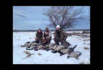 Охотник с добытыми гусями