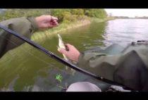 Рыбак с пойманной щукой