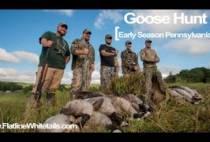 Охотники на гусей осенью